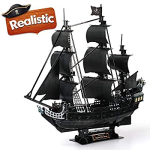 """CubicFun 3D Puzzles Large Pirate Ship 26.6"""" Difficult Watercraft Model Ship Building Kits Toys for.."""