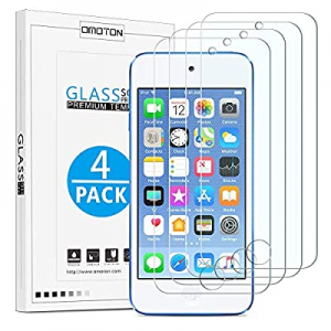 15.0% off OMOTON [4 Pack] Tempered Glass Screen Protector for New iPod Touch (7th Gen 2019 Release..