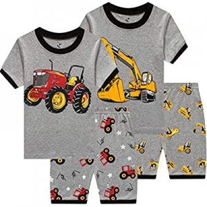 Pajamas for Boys Cotton Toddler Pjs 2 Piece Baby Clothes Sets Kids Sleepwear now 50.0% off