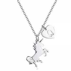 Unicorn Necklace for Girls Gift now 60.0% off , Dainty Horse Pendant Necklace with Stainless Steel..