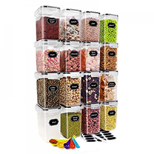 CREATIVE DESIGN Food Storage Containers now 20.0% off , 16 PC BPA Free Cereal Storage Container Ai..