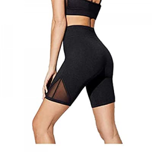 One Day Only!TAINAN Women's Seamless Mesh Workout Yoga Shorts now 80.0% off , High Waisted Gym Sho..