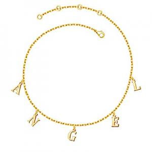 Shinelady Name Necklace Personalized now 60.0% off , 18K Gold Plated Choker Name Necklace Customiz..