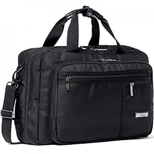 70.0% off CLUCI Laptop Bag for Men Canvas Expandable 15.6 Inch Business Briefcase Convertible Back..