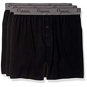 Organic Signatures Men's Classic Cotton Knit Boxers 100% Natural Comfort, 3-Pack now 15.0% off