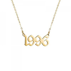 One Day Only!Year Necklace for Womens Girl now 52.0% off ,Initial Birth Year Number Necklace Men B..