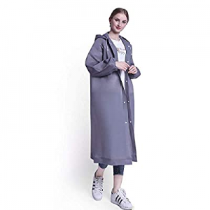 D-tal EVA Portable Raincoat, Women Men Reusable Raincoats with Hoods and Sleeves now 60.0% off