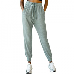 15.0% off MIROL Women's Active Drawstring Joggers Pants Elastic Waist Waffle Knit Trousers Athleti..
