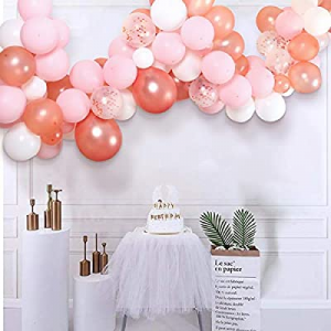 One Day Only!Pink Rose Gold Balloon Arch Garland Kit now 45.0% off , 110Pcs Party Decoration Ballo..