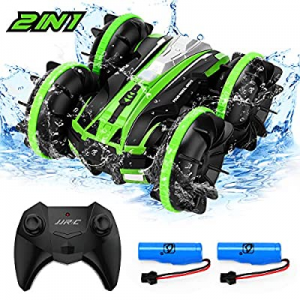 JJRC 2 in 1 RC Boat 2.4GHz Remote Control Cars & Boat now 40.0% off , 360 ° Rolling Double-Sided D..