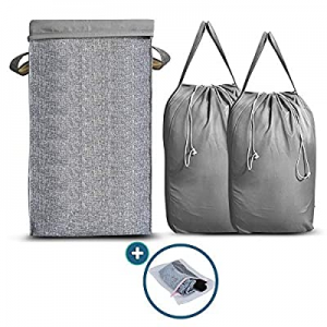 Nunus Home now 15.0% off , Large Collapsible Laundry Hamper with 2 Removable Laundry Bags with Eas..