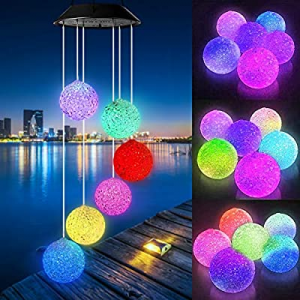 Wind Chimes now 30.0% off , Color Changing Solar Hummingbird Butterfly Wind Chimes Outdoor, LED De..