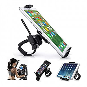 "AboveTEK Universal Handlebar Mount for iPad – iPhone - Tablet – Anti Shock 360 Degree 3.5"" to 12"" .."