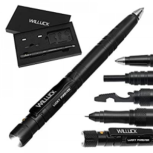 Cool & Unique Gifts for Men Dad Husband now 50.0% off ,Tactical Pen with Fire Starter,LED Flashlig..