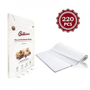 Baklicious 220 pcs Parchment Paper Sheets 9x13/12x16 White Parchment Sheets for Baking(9x13 inch) ..