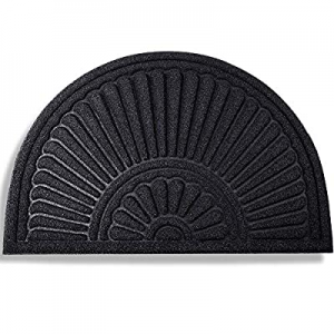 MIBAO Half Round Door Mat now 50.0% off , Rubber Doormats Welcome Entrance Way Mat, Heavy Duty Sem..