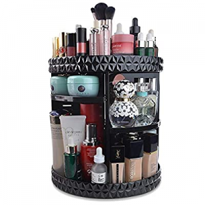 InnSweet 360 Rotating Makeup Organizer now 40.0% off , Adjustable Cosmetic Storage Display Case wi..