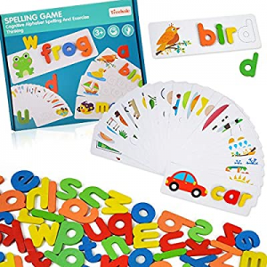 35.0% off ABC Alphabet Puzzles for Kids 3-5 Years Old - Words Spelling Sorting& Stacking Toys for ..