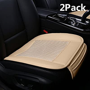 Suninbox Car Seat Covers now 35.0% off ,Ice Silk Car Seat Cushion Covers Pad Mat[carbonized Leathe..