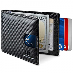 30.0% off SERMAN BRANDS RFID Blocking Slim Bifold Genuine Leather Minimalist Front Pocket Wallets ..