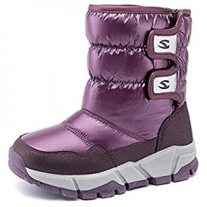 One Day Only!35.0% off UBFEN Kids Snow Boots Boys Girls Winter Warm Waterproof Outdoor Slip Resist..
