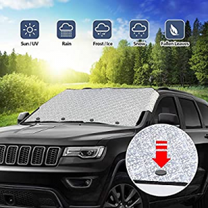 One Day Only!UKON Car Windshield Snow Cover Foldable Waterproof Auto Windshield Protectors All Wea..