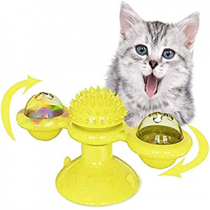 SIHUAN Windmill Cat Toy with Led Ball and Catnip Ball now 50.0% off , Interactive Cat Toy with Suc..