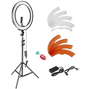 Neewer 18-inch SMD LED Ring Light Dimmable Lighting Kit with 78.7-inch Light Stand now 67.0% off ,..