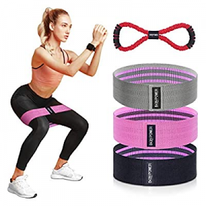 BQYPOWER Resistance Bands for Legs and Butt now 60.0% off , Exercise Loop Bands Workout Booty Band..