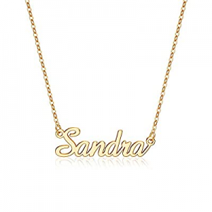 IEFLIFE Custom Name Necklace Personalized now 60.0% off , 14K Gold Plated Personalized Name Neckla..