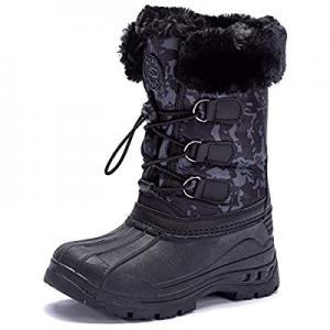 40.0% off UBFEN Kids Snow Boots Boys Girls Winter Warm Waterproof Outdoor Slip Resistant Cold Weat..