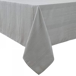 """One Day Only!Randall Grey Rectangle Oblong Tablecloth Farmhouse 60"""" x84"""" 7 Feet Heavy Duty now 30..."""