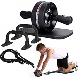 EnterSports Ab Roller Wheel now 50.0% off , 6-in-1 Ab Roller Kit with Knee Pad, Resistance Bands, ..