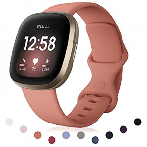 poshei Band Compatible with Fitbit Versa 3/Fitbit Sense for Women and Men now 20.0% off , Soft Sil..