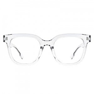 Slocyclub Classic Oversized Square Blue Light Glasses Computer Glasses for Eye Strain Women and Me..