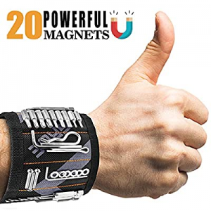 One Day Only!Magnetic Wristband with 20pcs Strong Magnets for Holding Screws now 35.0% off , Nails..