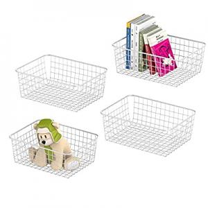 Metal Wire Basket now 20.0% off , GSlife Metal Wire Storage Organizer Bin Basket with Handles for ..