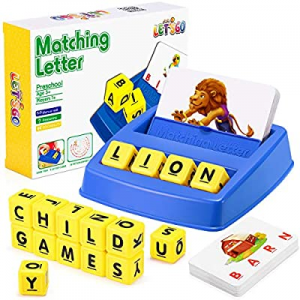 One Day Only!Learning Toys for 4-8 Boys Girls Matching Letter Games Spelling Games for Kids Ages 4..