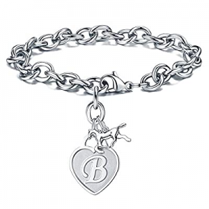 One Day Only!Turandoss Horse Gifts Charm Bracelets for Girls now 60.0% off , Engraved 26 Letters I..
