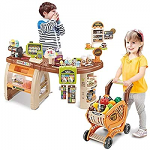 One Day Only!winwintom Play Cash Register Toys for Kids - Shopping Grocery Store Pretend Play Set ..