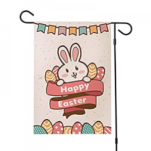 60.0% off Adeeing Easter Garden Flag Happy Easter Bunny Double Sided Welcome Flag 12x18 Inch Sprin..