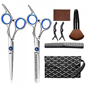 Hair Cutting Scissors Kits now 50.0% off , 7 Pcs Stainless Steel Hairdressing Shears Set Professio..