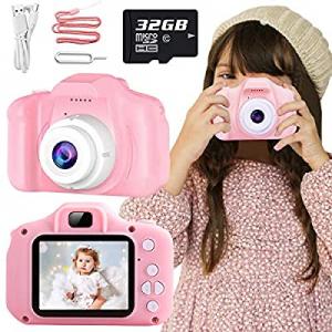 Nobie vivid Kids Camera now 35.0% off , Kids Selfie Camera Camcorder 2.0 Inch IPS Screen with 32GB..
