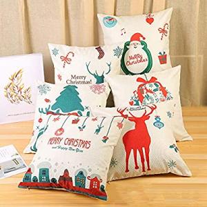 6 Packs Christmas Pillows Covers 18 X 18 Christmas Decorations Pillows Covers Christmas Decorative..