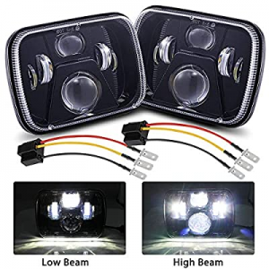 70.0% off BLIAUTO 5x7 LED Headlights Dot Approved 7x6 Inch H6054 Rectangular Headlamps with High L..