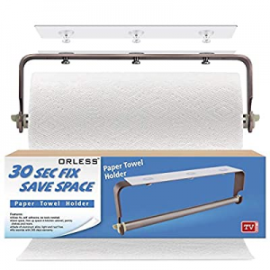 ORLESS Adhesive Paper Towel Holder Under Cabinet & Wall Mount now 15.0% off , No Drilling Suitable..
