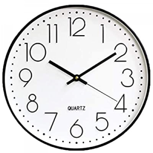 40.0% off The B-Style TB 12 Inch Modern Round Wall Clock Silent Non Ticking Quartz Easy to Read fo..