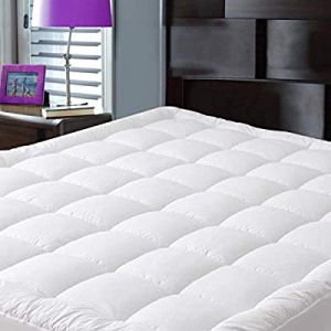 JURLYNE Pillowtop Twin Mattress Pad Cover now 65.0% off , Breathable Quilted Fitted with 8-21 Inch..