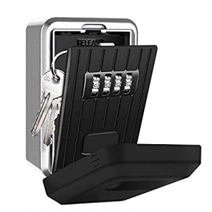 One Day Only!AMRIU Key Lock Box with 4-Digit Combination now 45.0% off , Lock Box for House Key, W..