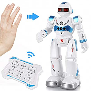 One Day Only!AOKESI Remote Control Robot Toy for Kids Intelligent Programmable Robot with Infrared..